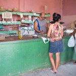 Prices are artificially low and supplies are insufficient at the Government-owned Ration coupon store.