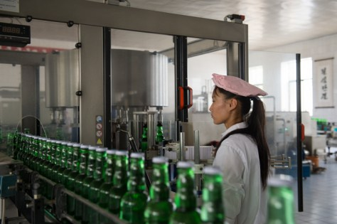 Kangso Mineral Water Bottling Plant outside of Nampho