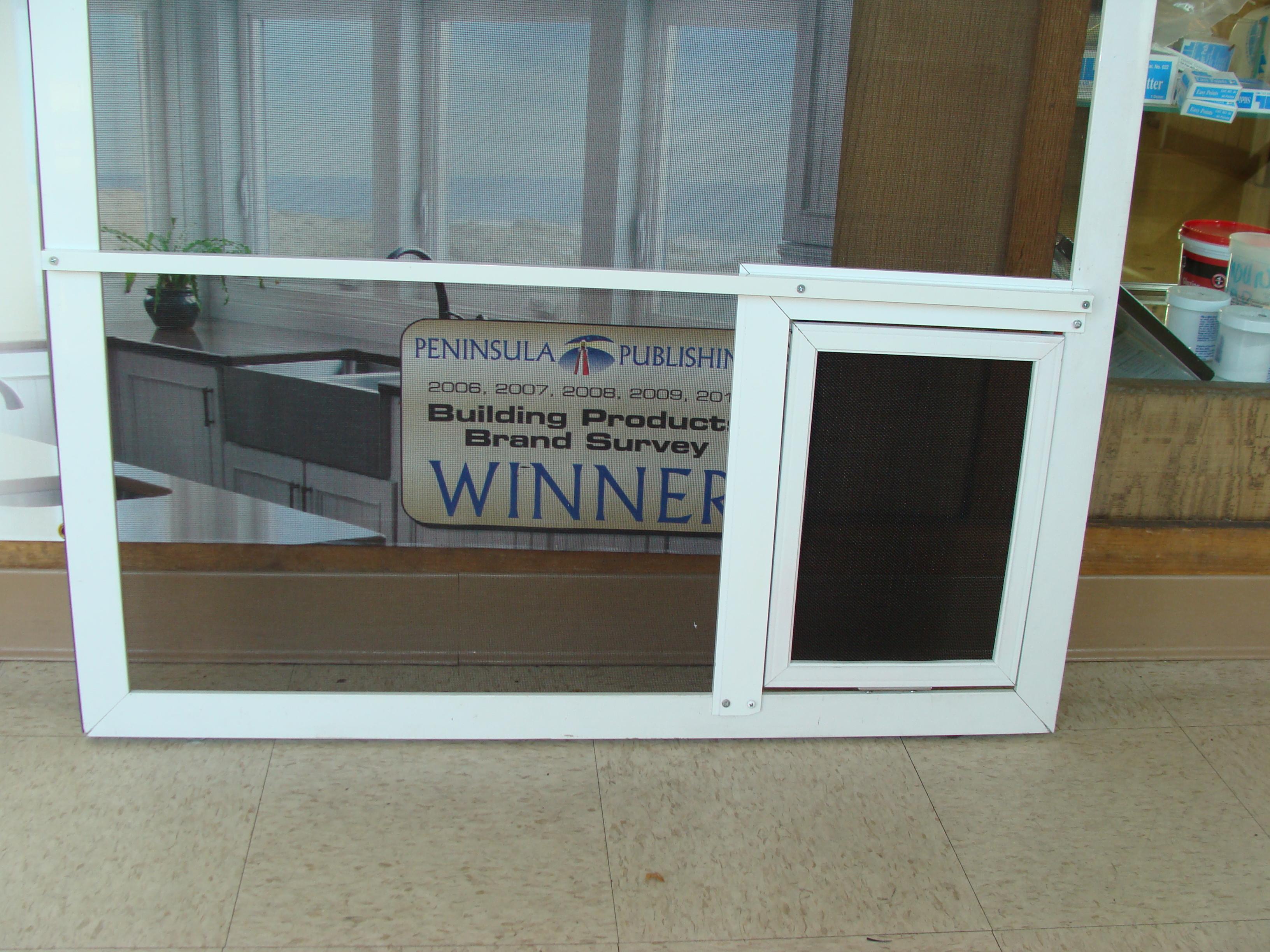 sliding screen doors and swinging