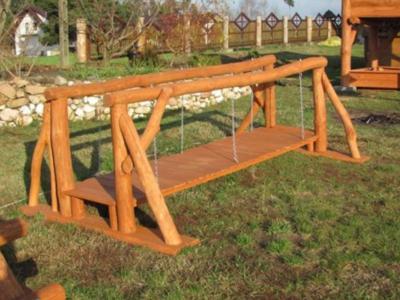 pont de jardin en rondins bois naturel maroni 2m