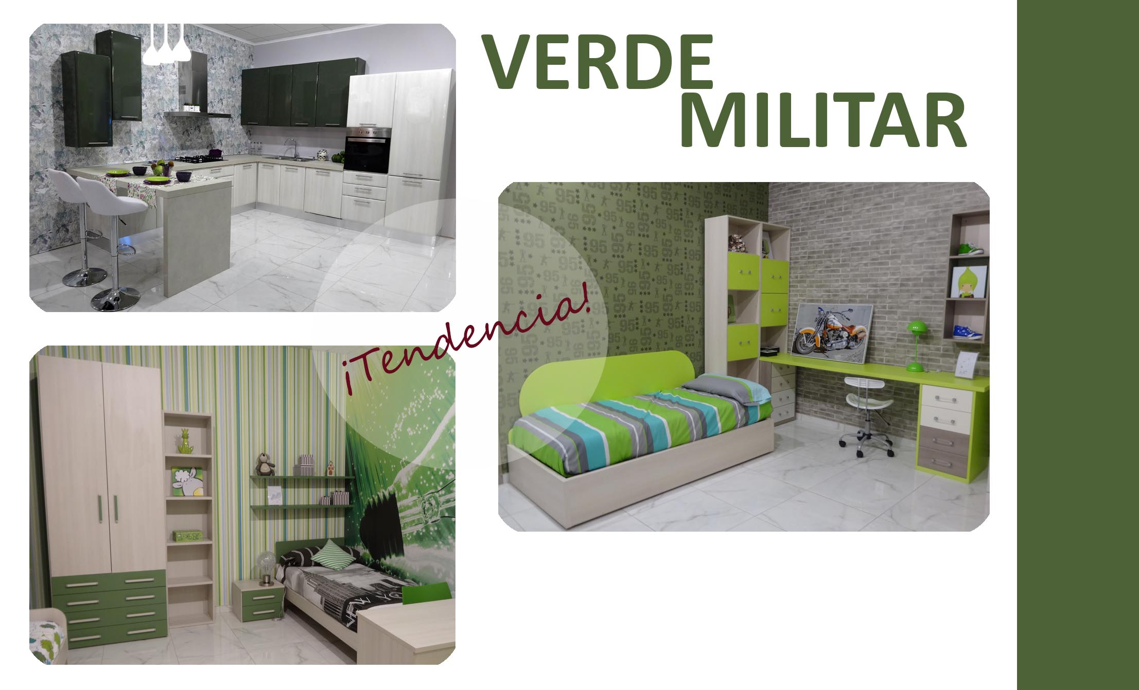 Tendencia Decorando con verde militar  Blog Con Ideas de Decoracion  Ideas para Decorar  Tendencias Colores