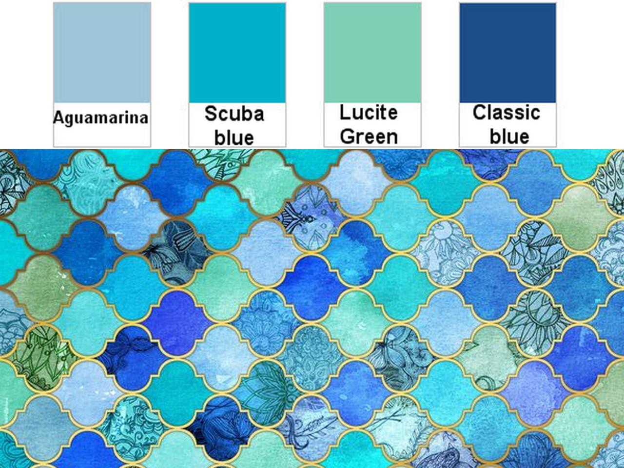 Decoracin en color azul viaje a los mares del sur