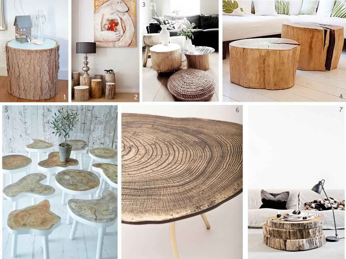 El bosque en casa ramas troncos y manualidades en madera