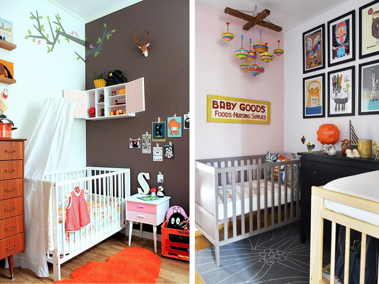 Ideas originales para decorar la habitacin del bebe