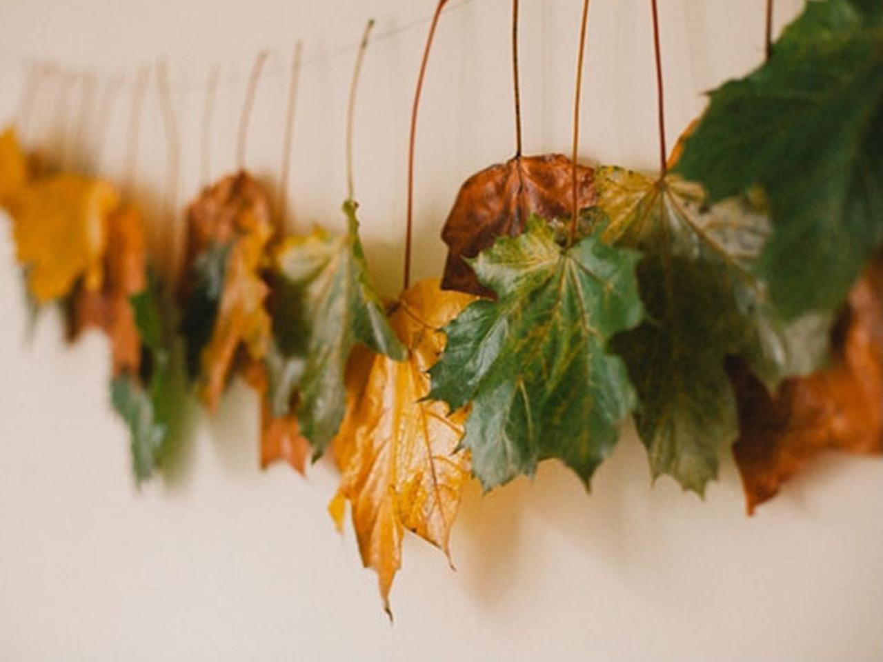 Decorar con hojas secas las 9 mejores ideas