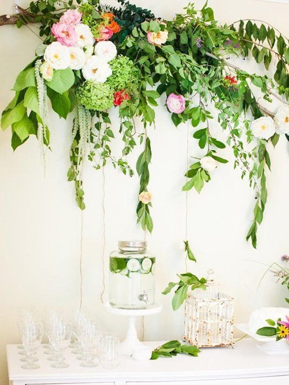 Decoracin con plantas artificiales