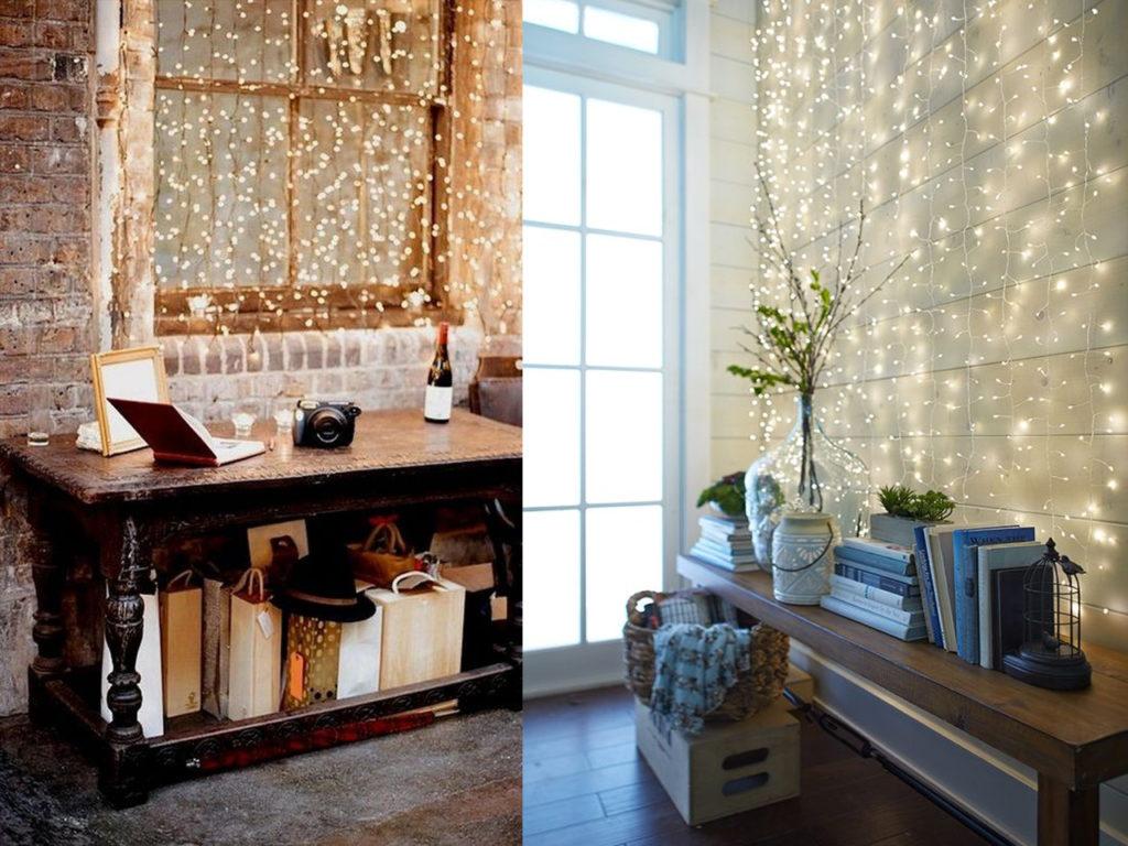 7 ideas de decoracin con luces de navidad en tu da a da
