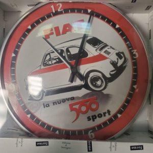 "Vintage Fiat 500 Wall Clock ""Race Car"""