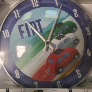 "Vintage Fiat 500 Wall Clock ""Tri-Color Flag"""