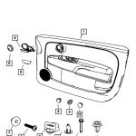 Door Panel Trim Grommet (Fiat/Abarth 500)