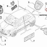 Bushing for Rear Badge/Emblem (Fiat/Abarth 500)