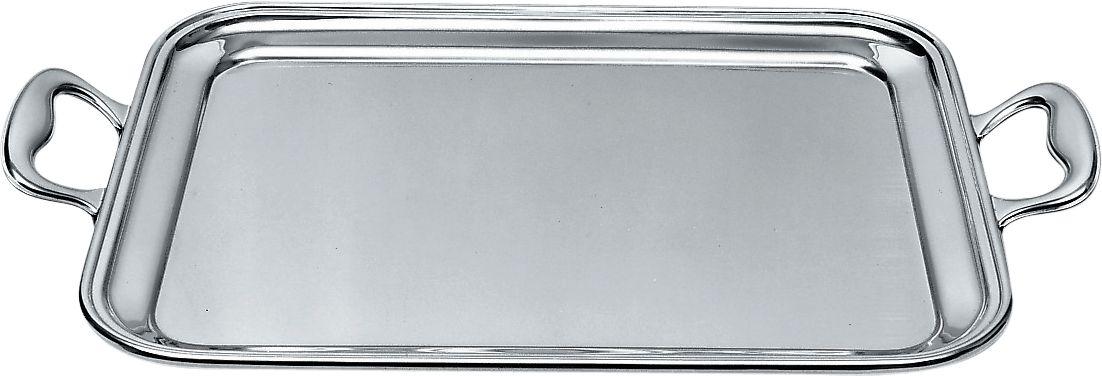 Vassoio rettangolare con manici in acciaio cm40x32 Alessi