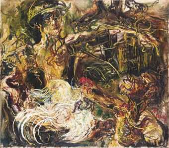 Gaya ekspresionis lukisan affandi