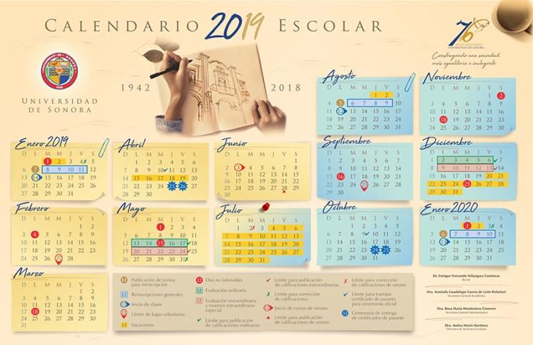 Calendario Universitario.Calendario Universitario Departamento De Investigaciones
