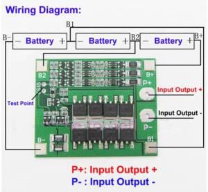 Cargadores : PCB para 3 baterías lipo 18650 en serie