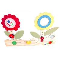 panel sensorial con flores