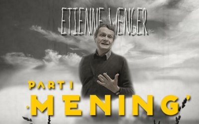 Etienne Wenger part 1 – Mening