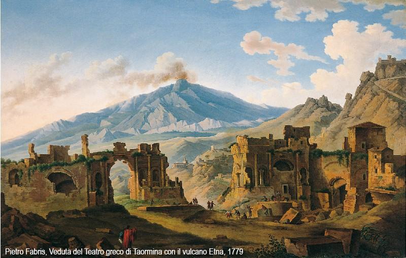 Un vulcano tremendo e pittoresco lEtna nei dipinti