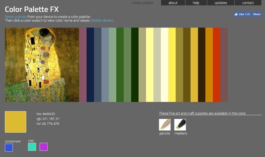 tavolozza con Color Palette FX