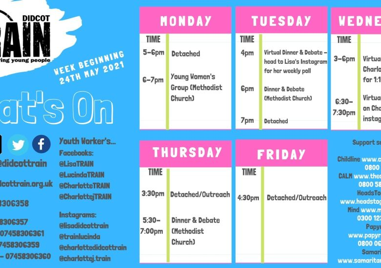 This week's timetable