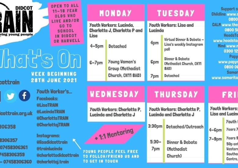 This week's timetable!