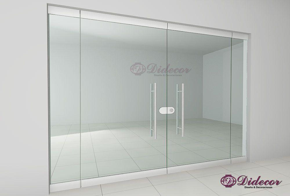 Divisiones en aluminio y vidrio