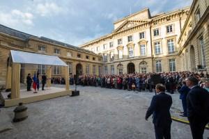 Exposition Monnaie de Paris cour