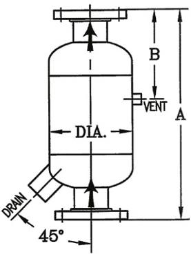 Type DSU Vertical Upflow Inline Separator-Didion Separator