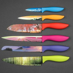 Cool Kitchen Knives Island Modern Landscape Knife Set Didn T Know I Wanted That With Pictures On The Blades