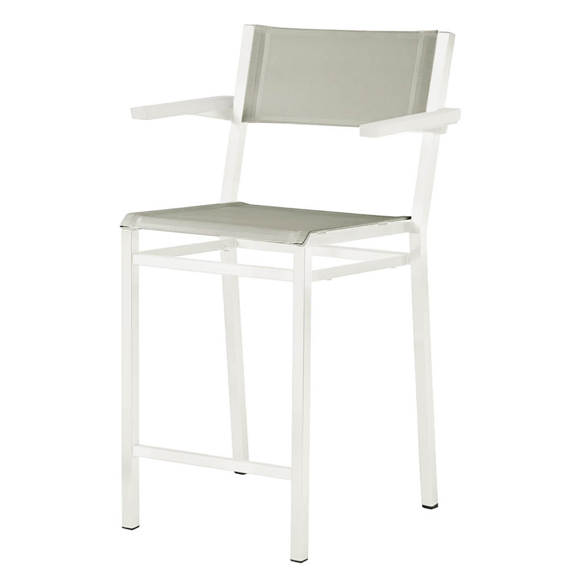counter height arm chairs coral upholstered chair barlow tyrie equinox painted in white