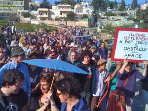 Demonstration in Sheikh Jarrah.