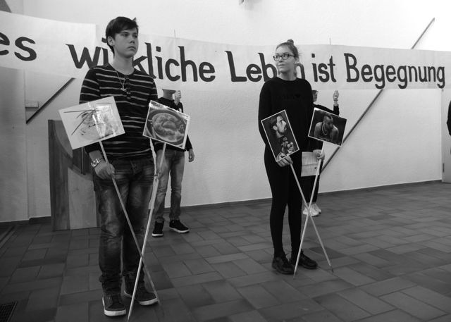 Flattichschule gestaltet Volkstrauertag