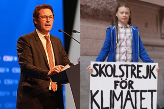 Andreas Scheuer und Greta Thunberg