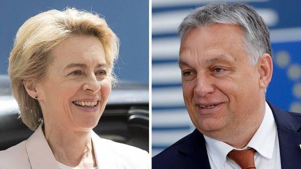 Ursula von der Leyen mit Viktor Mihály Orbán