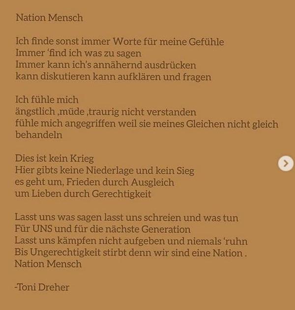 Gedicht Toni Dreher