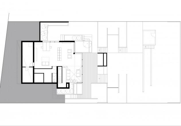 Terrassenhaus am Hang  Moderne Einfamilienhuser