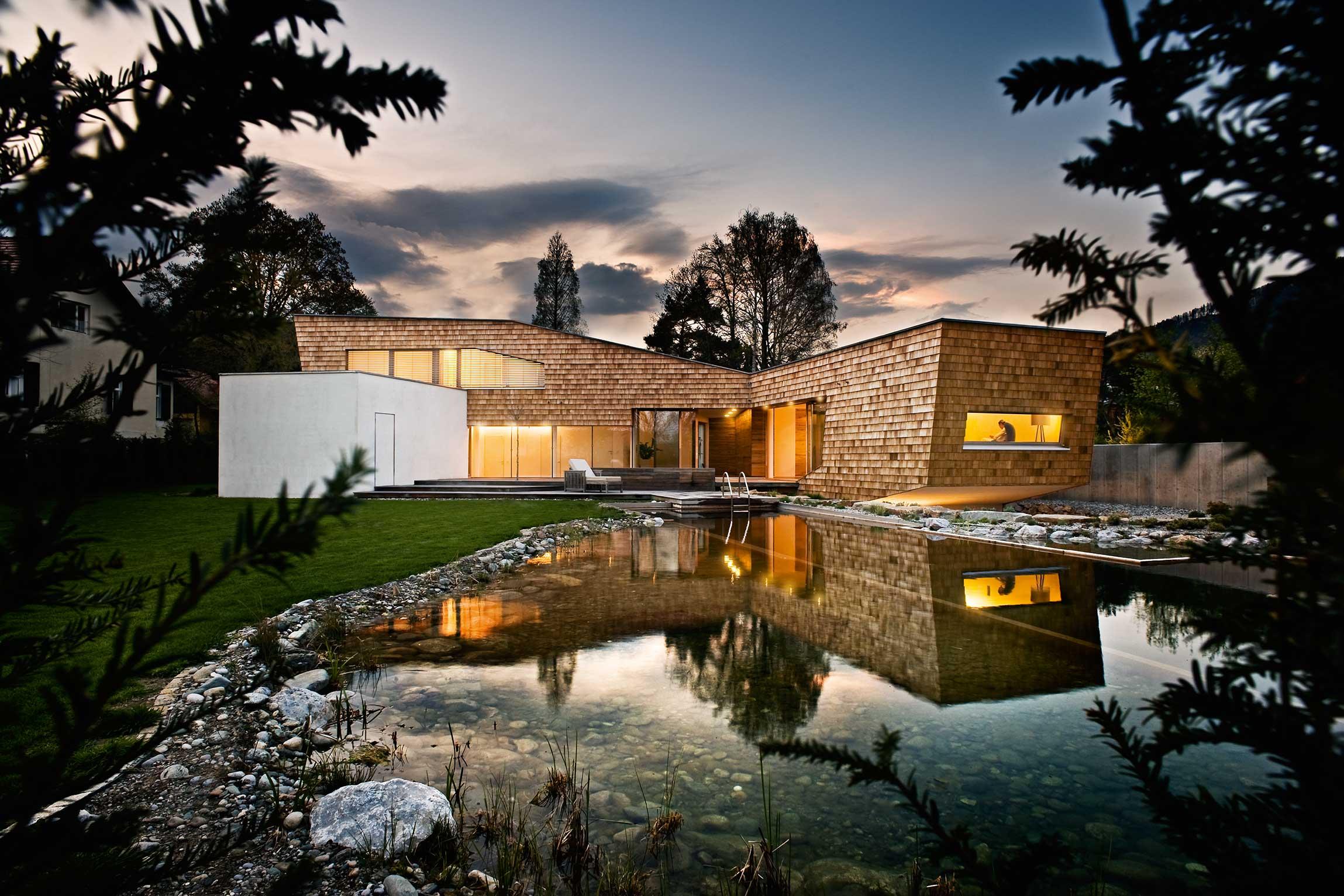Nachhaltiges Holzhaus  Moderne Einfamilienhuser