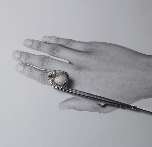 schmuck, ring, silber