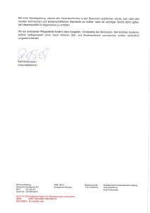 Seite 2: Entstehung Nullschwellen-Runderlass_erhaltene Unterstützung für Ulrike Jocham, die Frau Nullschwelle vom GPS Pflegedienst