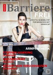 """Cover Barrierefrei, das Magazin, Ausgabe 06/2015 mit """"Ein Haus an der Ostsee"""", ein Artikel von Ulrike Jocham, die Frau Nullschwelle"""