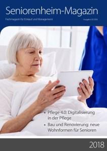 Cover vom Seniorenheimmagazin 02/2020 mit einem Artikel von Ulrike Jocham, der Frau Nullschwelle 2 cm hohe Türschwellen als gefährliche Stolperfallen im Bestand können abgebaut werden!