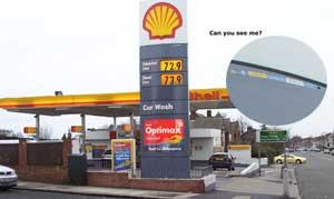 Mobilfunkanlagen, die in Preistafeln von Shell und anderen diversen Firmen angebracht werden, sind nichts Besonderes