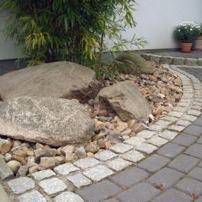 steine im vorgarten – bankroute, Hause und garten