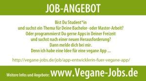 Vegane Jobs App Entwickler*in gesucht