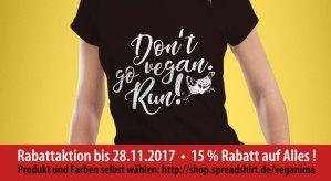 Don't go vegan. Run! #veganima