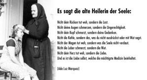 Die Heilerin - Text von Ada Luz Marquez