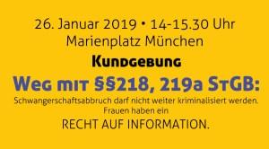 weg-mit-paragrafen-218-219a - Kundgebung Kofra München