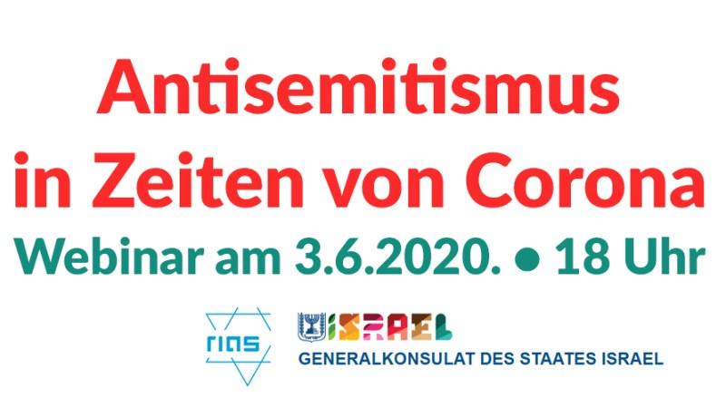 Antiseminitsmus in Zeiten von Corona. Webinar am 3.6.2020, 18 Uhr auf Facebook