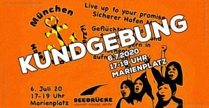 Seebrücke München - Kundgebung für die Aufnahme von Geflüchteten