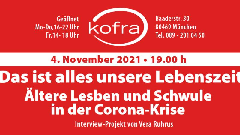 Lesben und Schwule in der Corona-Krise - Interviews von Vera Ruhrus